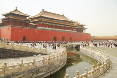 Forbidden City Beijing. Forbidden City or Chinese imperial palace in Beijing Stock Photography