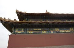 Forbidden city red big wall, Beijing royalty free stock images