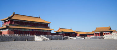 The Forbidden City, Beijing. Panoramic view of the Forbidden City, Beijing Stock Image