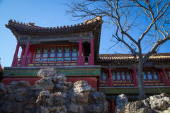 The Forbidden City, Beijing. A red house inside the Forbidden City, Beijing China Stock Image