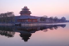 Forbidden City , Beijing at twilight Stock Images