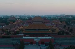 Forbidden city of in china royalty free stock photos