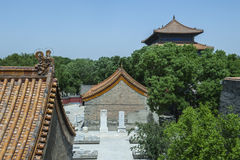 Palaces in the forbidden city Stock Photos