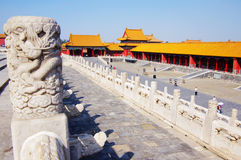 Forbidden City Chinese palace in Beijing Stock Photography