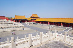 Forbidden City Chinese palace in Beijing Stock Photos