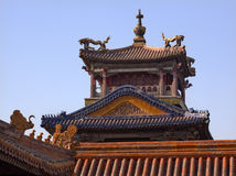 Forbidden City Dragon Pavilion Beijing Stock Image