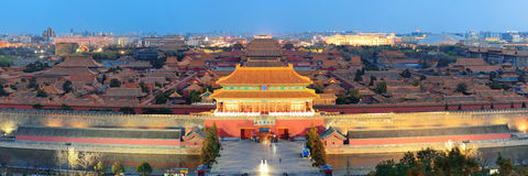 Forbidden City at dusk Stock Image