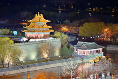 Forbidden City at dusk Royalty Free Stock Photo