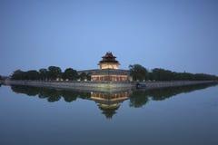 Forbidden City at dusk Stock Photos