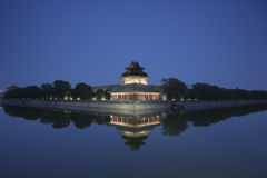 Forbidden City at dusk Royalty Free Stock Photography