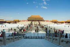 Forbidden City efter snö Royaltyfri Foto