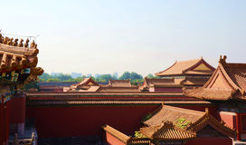 Forbidden City, Emperor's Palace, Beijing, China. Taken from a public park Royalty Free Stock Images