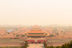 Forbidden city of Emperor's Palace in Beijing, China Stock Image