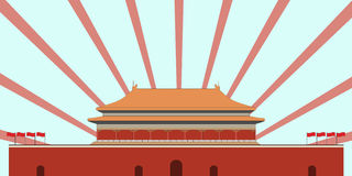Forbidden City. Gate of Heavenly Peace. Tiananmen Square. Beijin Stock Photo