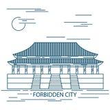 Forbidden City. Gate of Heavenly Peace. Tiananmen Square. Beijing. vector illustration