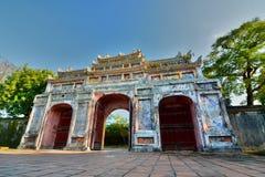 Forbidden city gate. Imperial City. Hué. Vietnam Stock Image