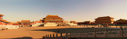 Forbidden City Gate of Supreme Harmony Square Royalty Free Stock Images