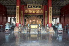 Throne Forbidden City, Beijing Stock Images