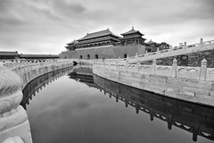 The Forbidden City (Gu Gong) in black and white Stock Images