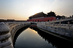 The Forbidden City (Gu Gong) at sunrise Royalty Free Stock Photo