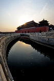 The Forbidden City (Gu Gong) at sunrise Stock Images