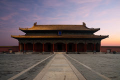 Forbidden City Hall  Supreme Harmony Sunrise Front Stock Image