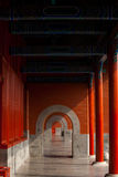 Forbidden City Hallway Beautiful Repetition Royalty Free Stock Images