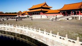 Forbidden City i Peking, Kina stock video
