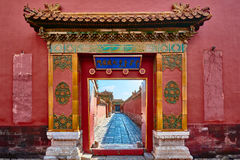 Forbidden City imperialistisk slottPeking Kina Royaltyfria Foton