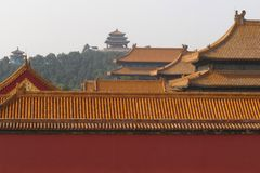 The Forbidden City. And JING SHAN Park Stock Images