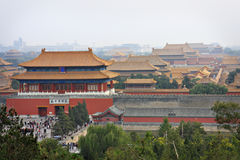 Forbidden City from Jingshan Hill 3 Stock Photos
