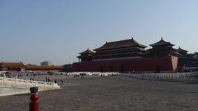 Forbidden City Kina kungliga arkitektur lager videofilmer