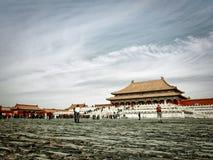 Forbidden City korridor av suverän harmoni Royaltyfri Bild