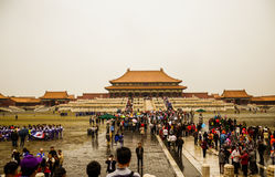 The Forbidden City. Large crowds of holiday tiananmen square to see the Forbidden City in Beijing Stock Photos