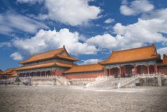 Forbidden City is the largest palace complex in the world. Royalty Free Stock Image