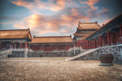 Forbidden City. Is the largest palace complex in the world. Located in the heart of Beijing, near the main square of Tiananmen stock image