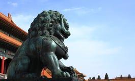 Forbidden City Lion Stock Photography