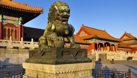 Free Forbidden City Lion Royalty Free Stock Image - 18793806