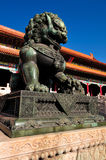 Forbidden City Lion Stock Photo