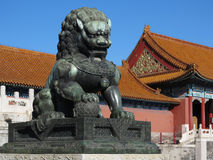 Forbidden City Lion Royalty Free Stock Image