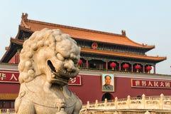 Forbidden City Lion Royalty Free Stock Photos
