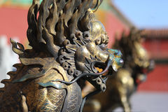 Forbidden City Lion Royalty Free Stock Photography