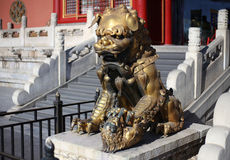 Forbidden City Lion Stock Photography