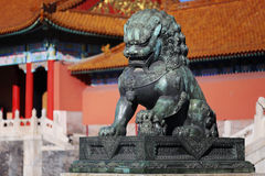 Forbidden City Lion Stock Image