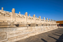 Forbidden City. The mable fence in Forbidden City Stock Photo