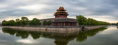 Forbidden City and the moat Stock Photos