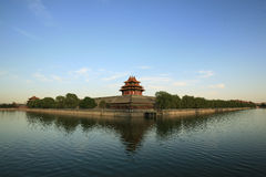 Forbidden City and moat. In Pekin China Stock Photos
