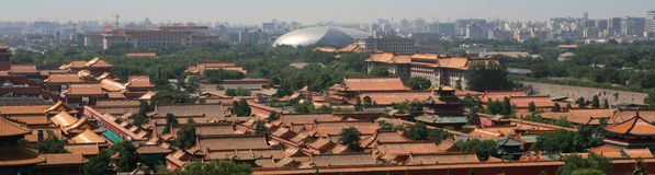 Forbidden City and moat. Forbidden City in Pekin China Royalty Free Stock Photography