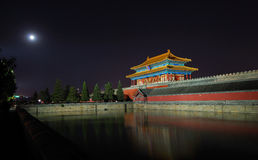 Forbidden City And Moon Stock Photography