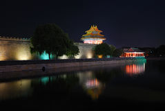 Forbidden City And Moon Stock Photos
